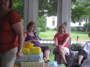 My cousin Beth and me, pondering things.