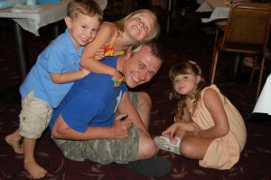 Uncle G and kiddos.